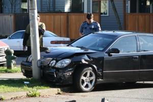 Car hit pole