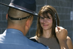 Field sobriety test for DUI