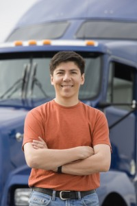 young trucker
