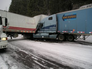 Semi accident with Werner