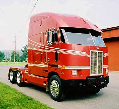 1992 cabover Peterbilt football
