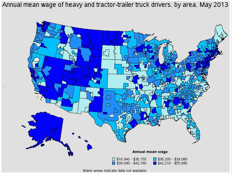 top paying cities for truck drivers